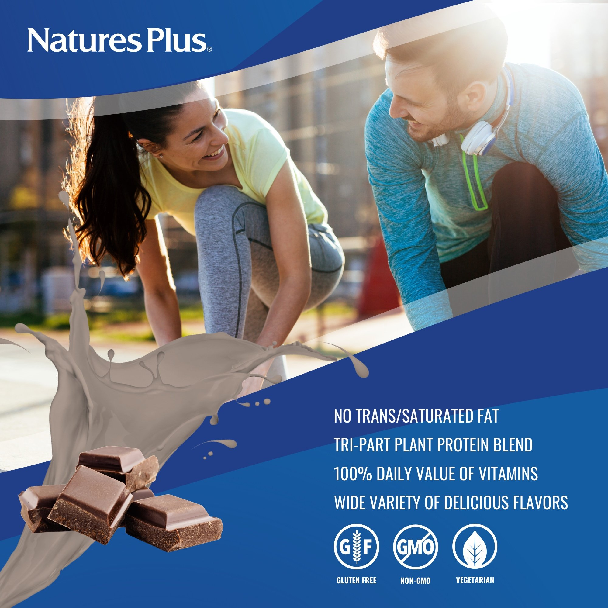 NaturesPlus SPIRU-TEIN Shake - Chocolate - 5 lbs, Spirulina Protein Powder - Plant Based Meal Replacement, Vitamins & Minerals For Energy - Vegetarian, Gluten-Free - 81 Servings by Nature's Plus (Image #3)