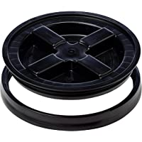 Gamma Seals Airtight & Leakproof Lid for 3.5 to 7 Gallon Buckets, Black (4123)