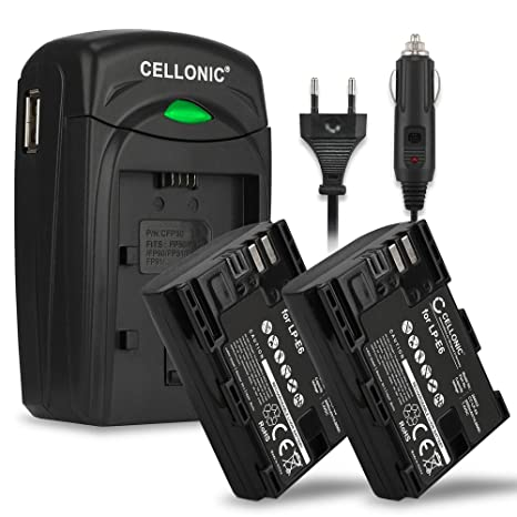 caricabatteria rapido USB DUAL per Canon EOS 5D MARK III 2x Batteria Patona
