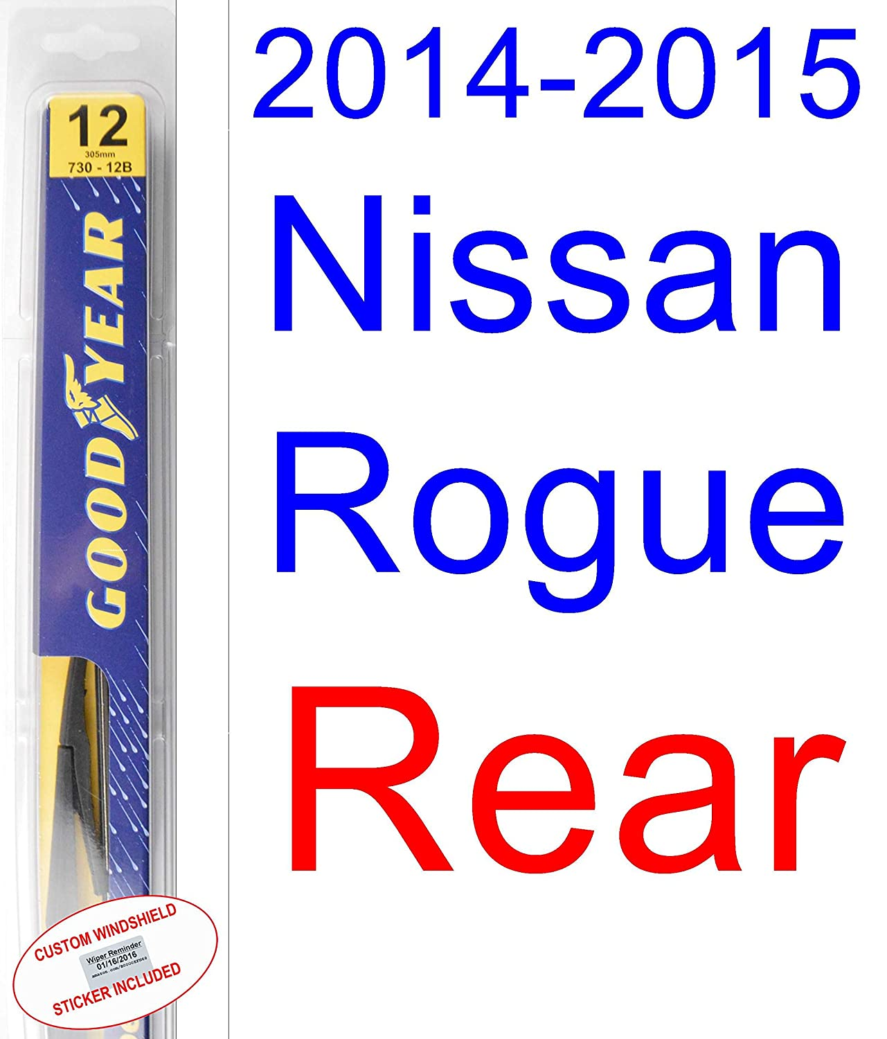 Amazon.com: 2014-2015 Nissan Rogue Replacement Wiper Blade Set/Kit (Set of 2 Blades) (Goodyear Wiper Blades-Premium): Automotive