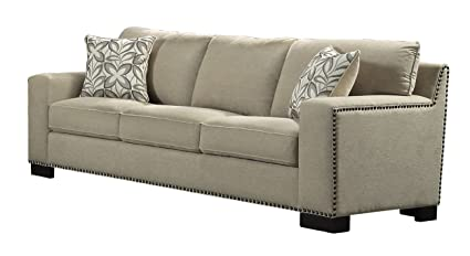 Superieur Homelegance Gowan Sofa With Nail Head Accented Track Arm Chenille, Beige