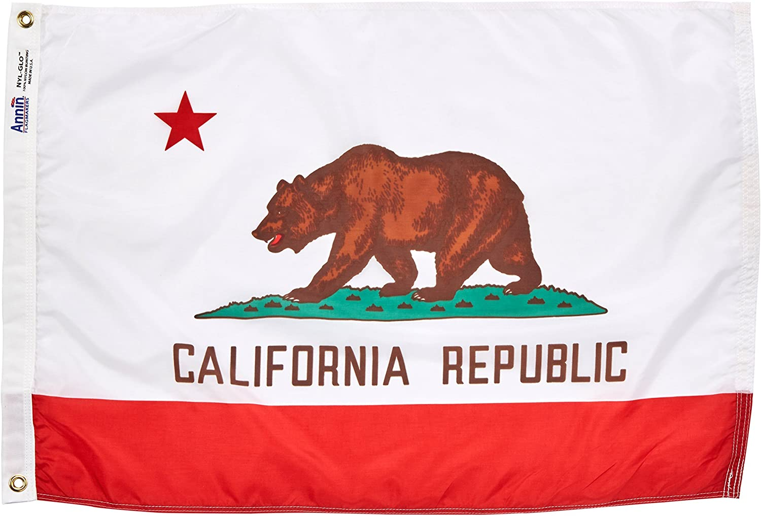 Sizes California Republic State Flag Durable All Weather Nylon Made in USA Mult