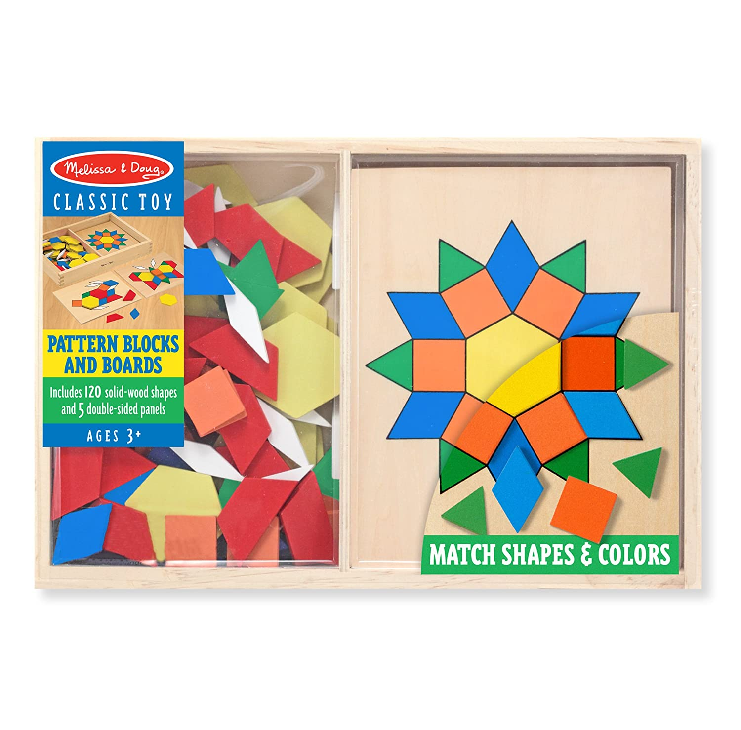 Resultado de imagen de PATTERN BLOCK AND BOARD MELISSA AND DOUG