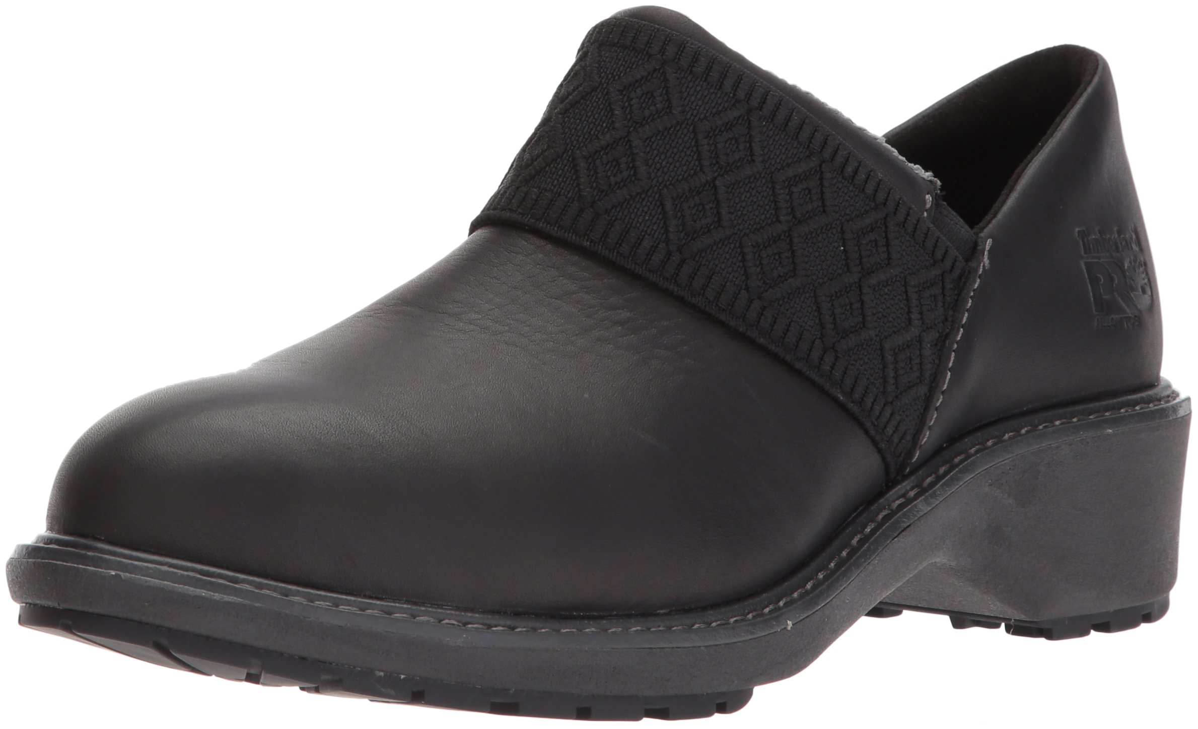 Timberland PRO Women's Riveter Alloy Toe SD+ Industrial and Construction Shoe, Black Swank Full Grain Leather, 7.5 M US