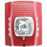 System Sensor SR SpectrAlert Wall-Mt Selectable Horn Strobe 12/24V, Red