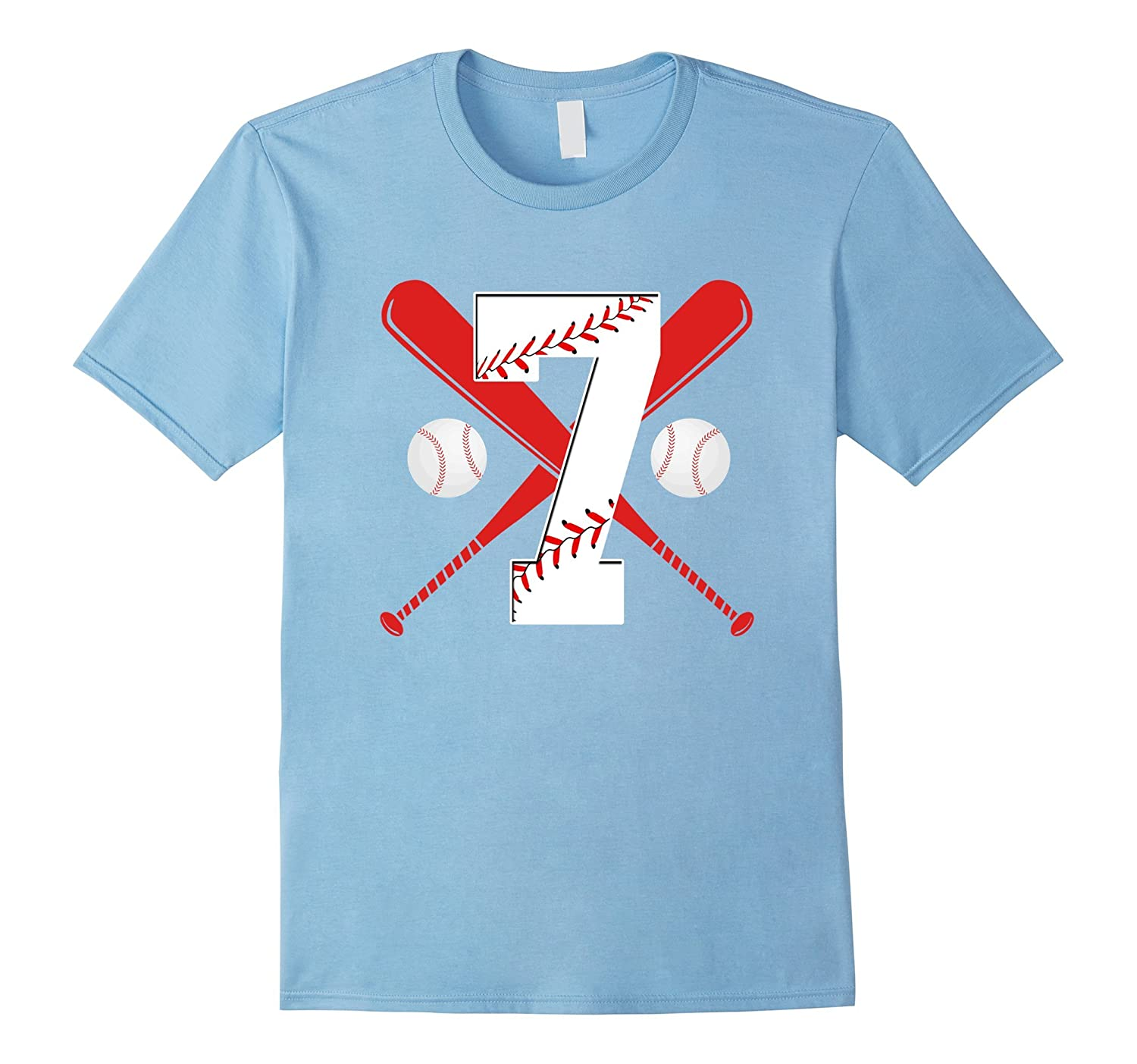 Funny Seventh Birthday Party 7th Baseball T Shirt Gifts ANZ