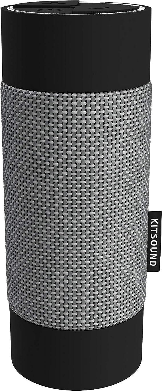 Kitsound Diggit Bluetooth Lautsprecher Für Draußen Silber Schwarz Audio Hifi