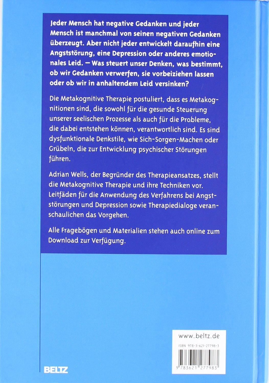 Metakognitive Therapie bei Angststörungen und Depression: Amazon.de ...