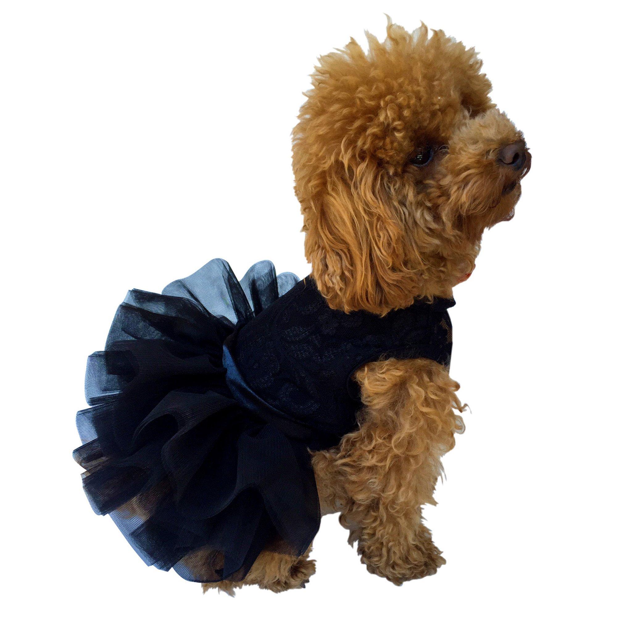 The Dog Squad The Fufu Tutu Dress, Small, Black