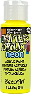 product image for Crafter's Acrylic All Purpose Paint 2 Ounces-Yellow Neon