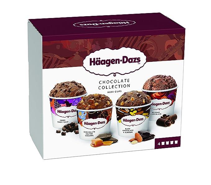 Häagen-Dazs Surtido Mini Tarrinas de Helado Chocolate Attraction - Pack de 4 x 95