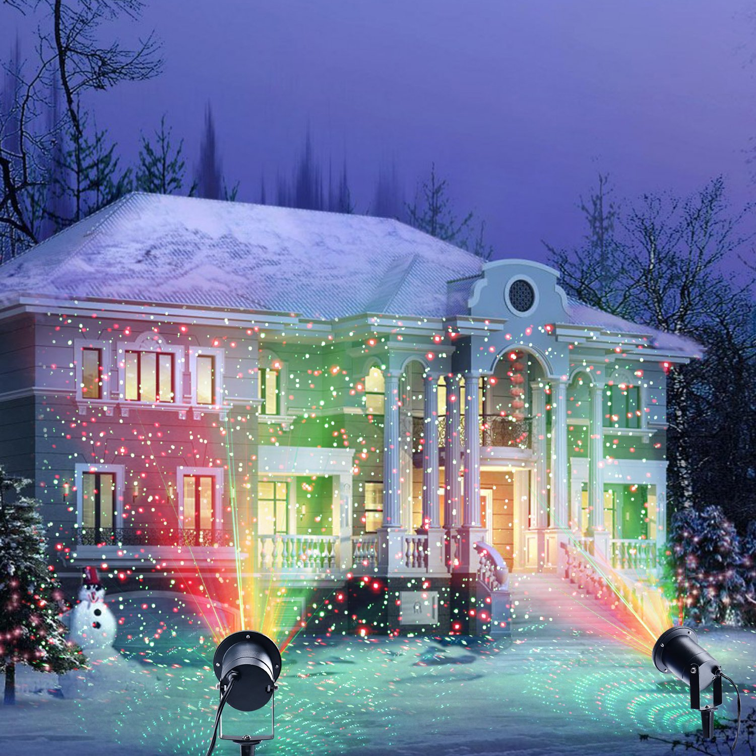 Laser Christmas Projector Light for Indoor and Outdoor with 3 Moving