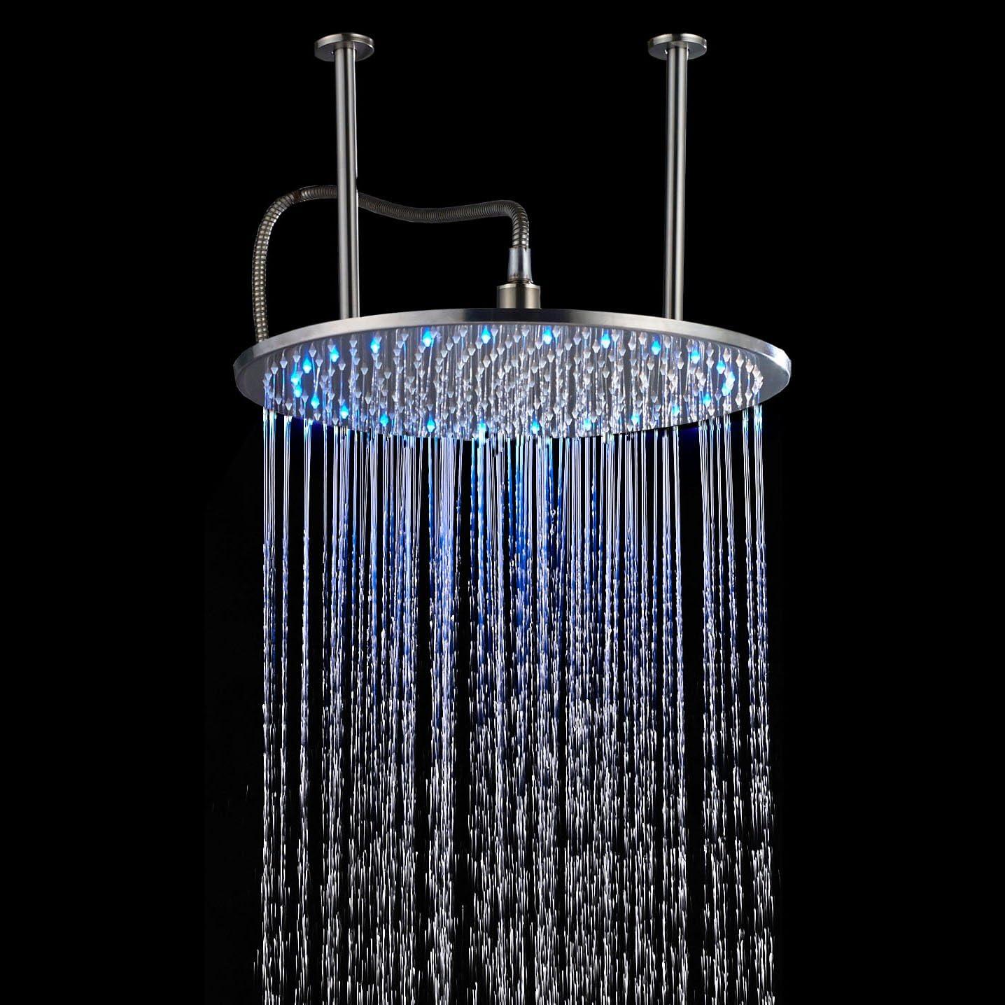 24 inch Rainfall Bathroom Brass Square Ceiling Mounted Top Shower Sprayer Head