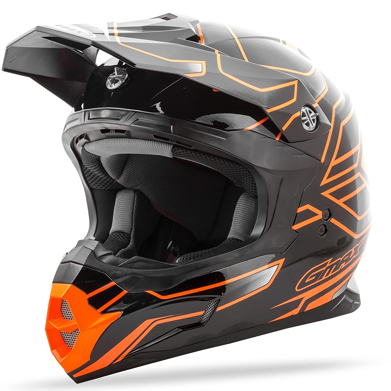 GMAX Unisex-Adult Full-face Style G3862697 TC-26 Mx86 Step Helmet Black//Hi-Vis Orange x Large G3862697TC-26