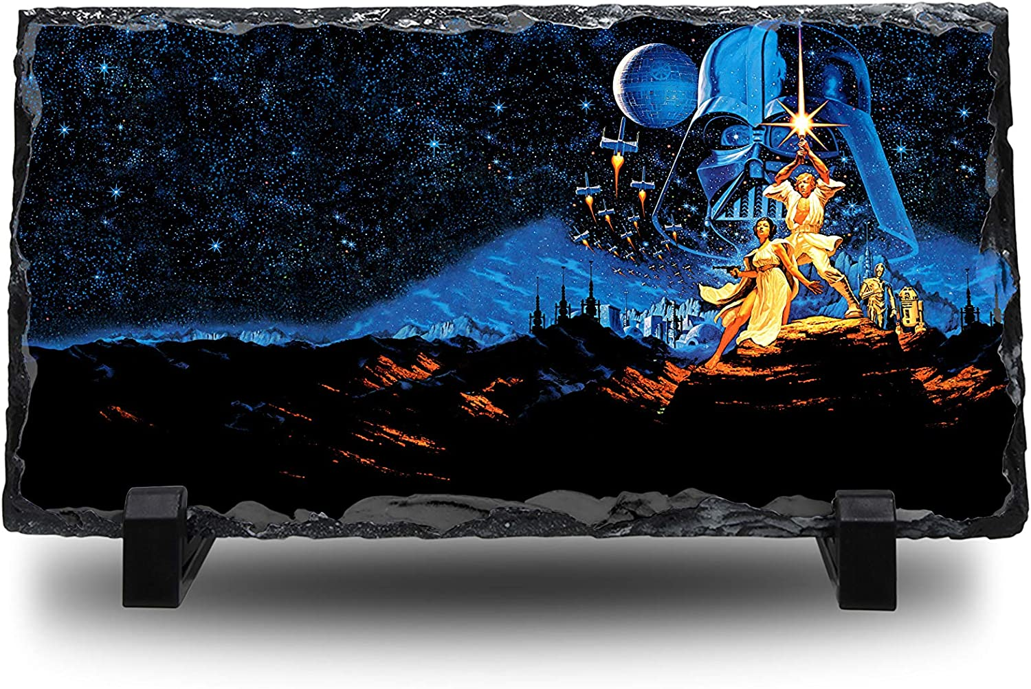 Natural Rock Slate with Stand Anime Desk Art Your Name