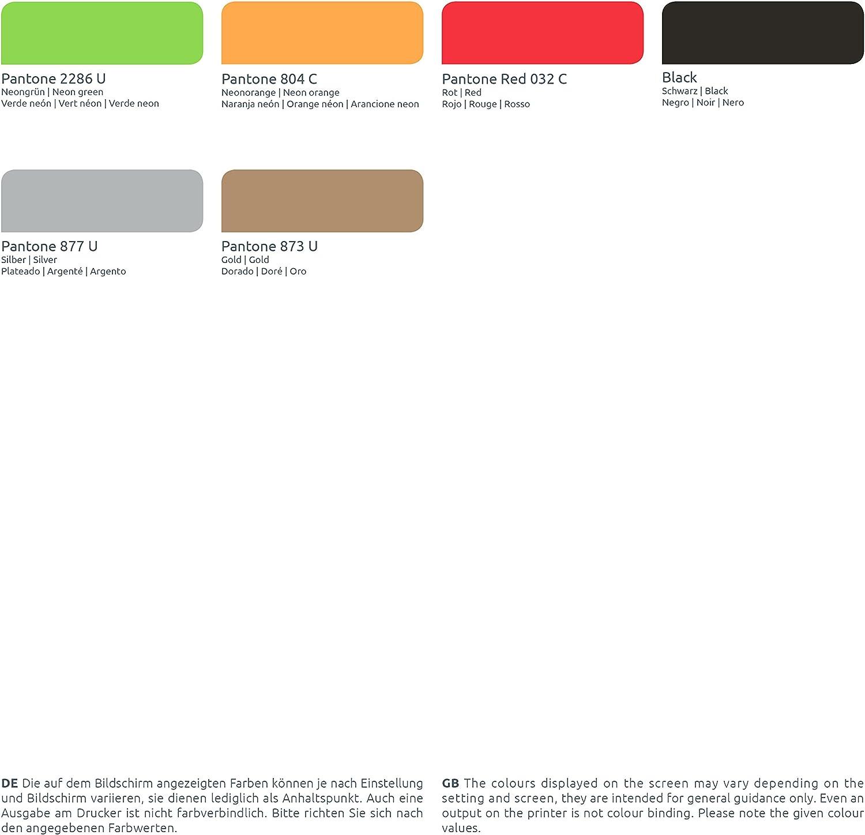 linie zwo/® Confezione da 100 braccialetti di identificazione Tyvek/® 19 mm VIP New Design Arancione neon