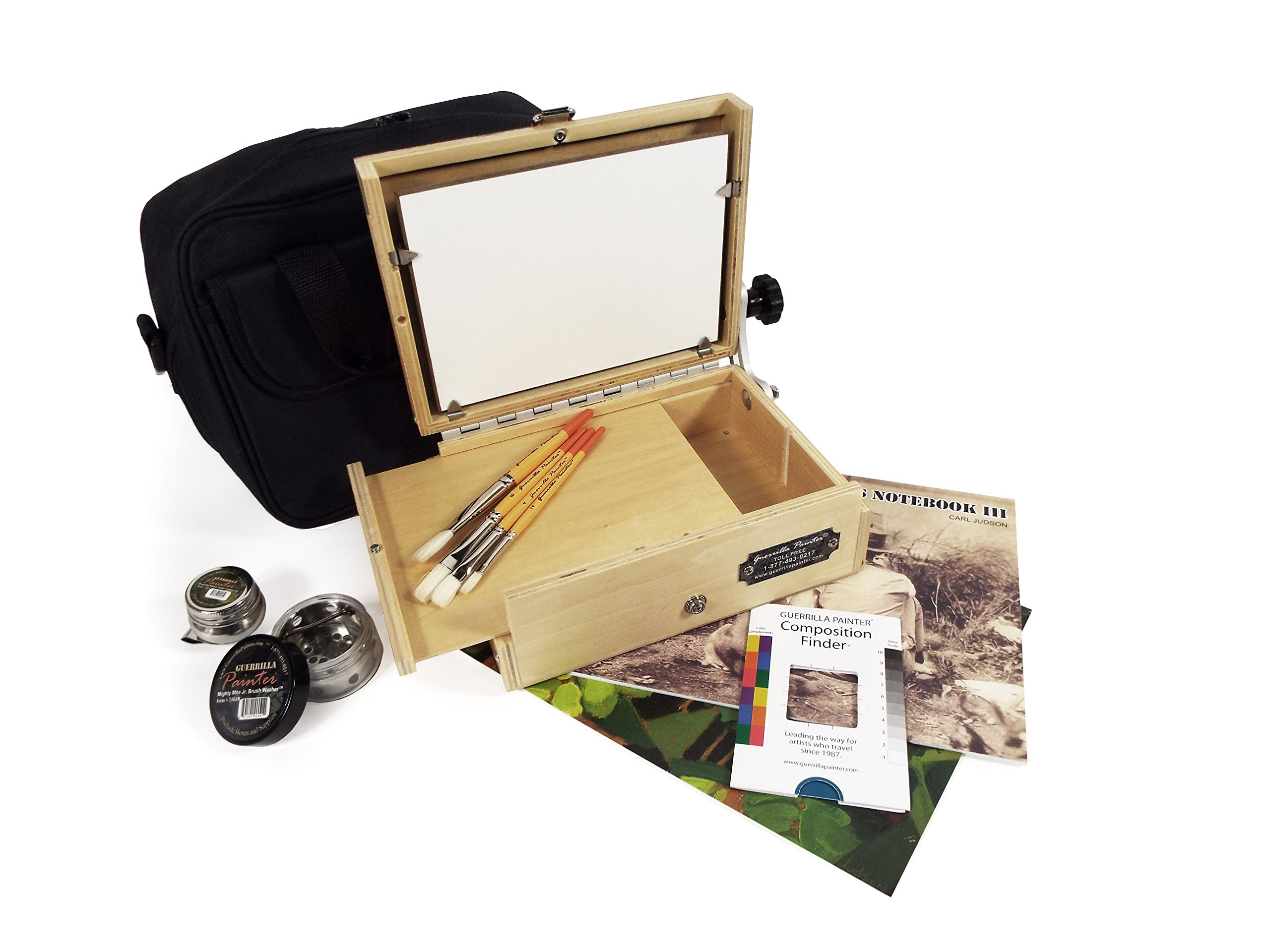 Guerrilla Painter 6 by 8 Thumbox Oil and Acrylic Plein Air Kit by Guerrilla Painter