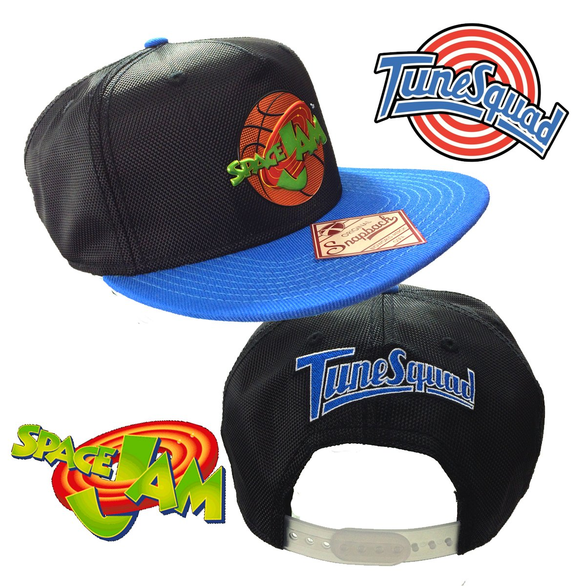 da7e984a215 Amazon.com  Space Jam Retro Tune Squad Looney Tunes Michael Air Jordan 11  Nike Basketball Snapback Hat Cap  Clothing
