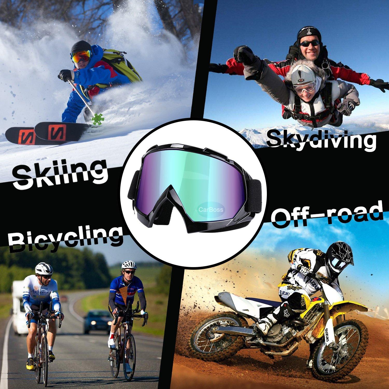 Motorcycle Goggles Anti UV Anti Fog Dustproof ATV Motocross Riding Glasses by CarBoss (Image #2)