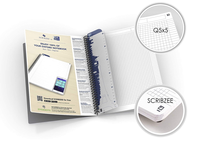 App Scribzee Oxford 100101543 Mini Spiralato Formato A5 180 Pagine Carta 90gr Rigatura 5mm Assortito