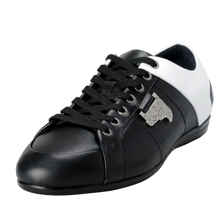 VersaceコレクションメンズTwoToneレザーファッションスニーカー靴US 8 IT 41 ; B072LWS3B4