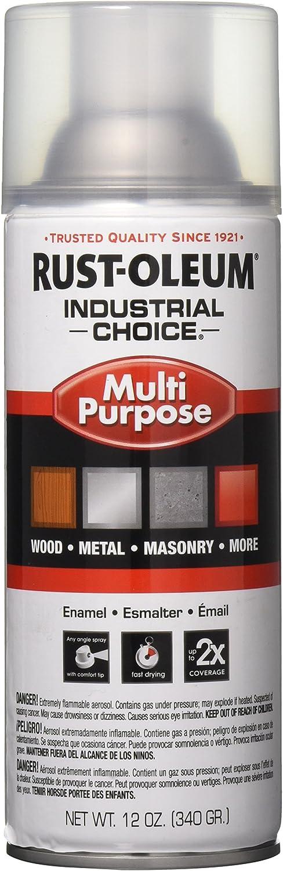 Rust-Oleum 1610830 1600 System Multi-Purpose Enamel Spray Paint, 12-Ounce, Crystal Clear