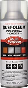 Rust-Oleum 1610830 1600 System Multi-Purpose Enamel Spray Paint, 12-Ounce, Crystal Clear