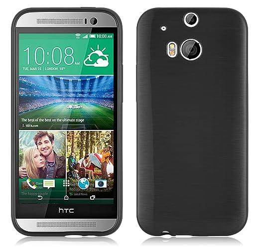 5 opinioni per Cadorabo- Custodia silicone TPU HTC ONE (M8- 2.Gen) Design: METALLO SPAZZOLATO
