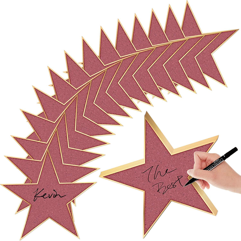 BBTO 24 Pieces Movie Star Cutouts Star Cardboard Movie Night Star Paper Card for Movie Night Party Decoration,11 Inches