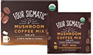 Four Sigmatic Mushroom Coffee with Lion's Mane & Chaga For Concentration + Focus, Vegan, Paleo, Gluten Free, 0.09 Ounce (10 C