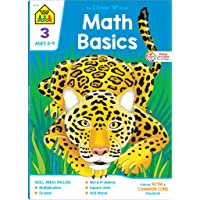 School Zone - Math Basics 3 Workbook - Ages 8 to 9, 3rd Grade, Common Core, Multiplication, Division, Word Problems, Place Value, Fractions, and More (School Zone I Know It!® Workbook Series)