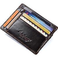 HASAGEI Tarjetero Hombre Cartera Hombre Pequeña de Cuero Tarjeteros para Tarjetas de Crédito RFID Monedero para Mujer u…