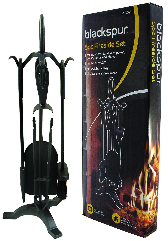 Blackspur BB-FS309 4-Piece Fireside Set, Black ST-HA-BB-FS309