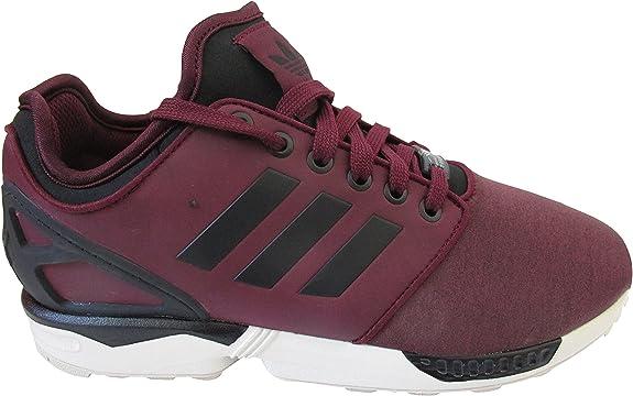 adidas ZX Flux NPS 2.0 Hombre Zapatillas Running Zapatillas - Granate/CBLACK/CBROWN M21614, UK 11.5 US 12 EU 46 2/3: Amazon.es: Zapatos y complementos