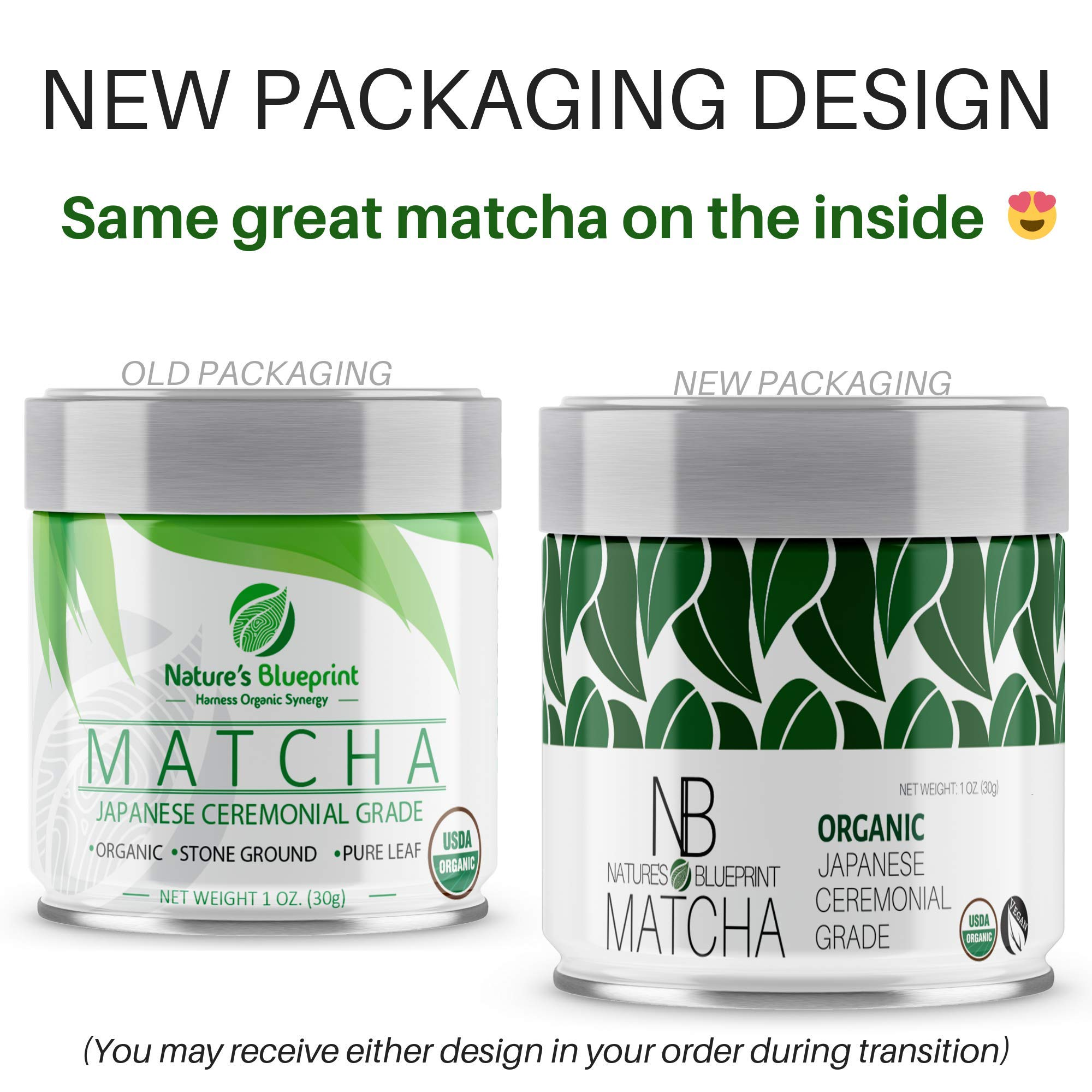 Matcha Green Tea Powder-3 Pk-Organic Japanese Ceremonial Grade Straight from Uji Kyoto, Premium Quality-3 oz BUNDLE contains Powerful Antioxidant Energy for NON-GMO Health. … by Nature's Blueprint (Image #2)