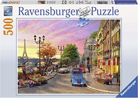 Ravensburger Puzzles A Paris Evening, Multi Color (500 Pieces)