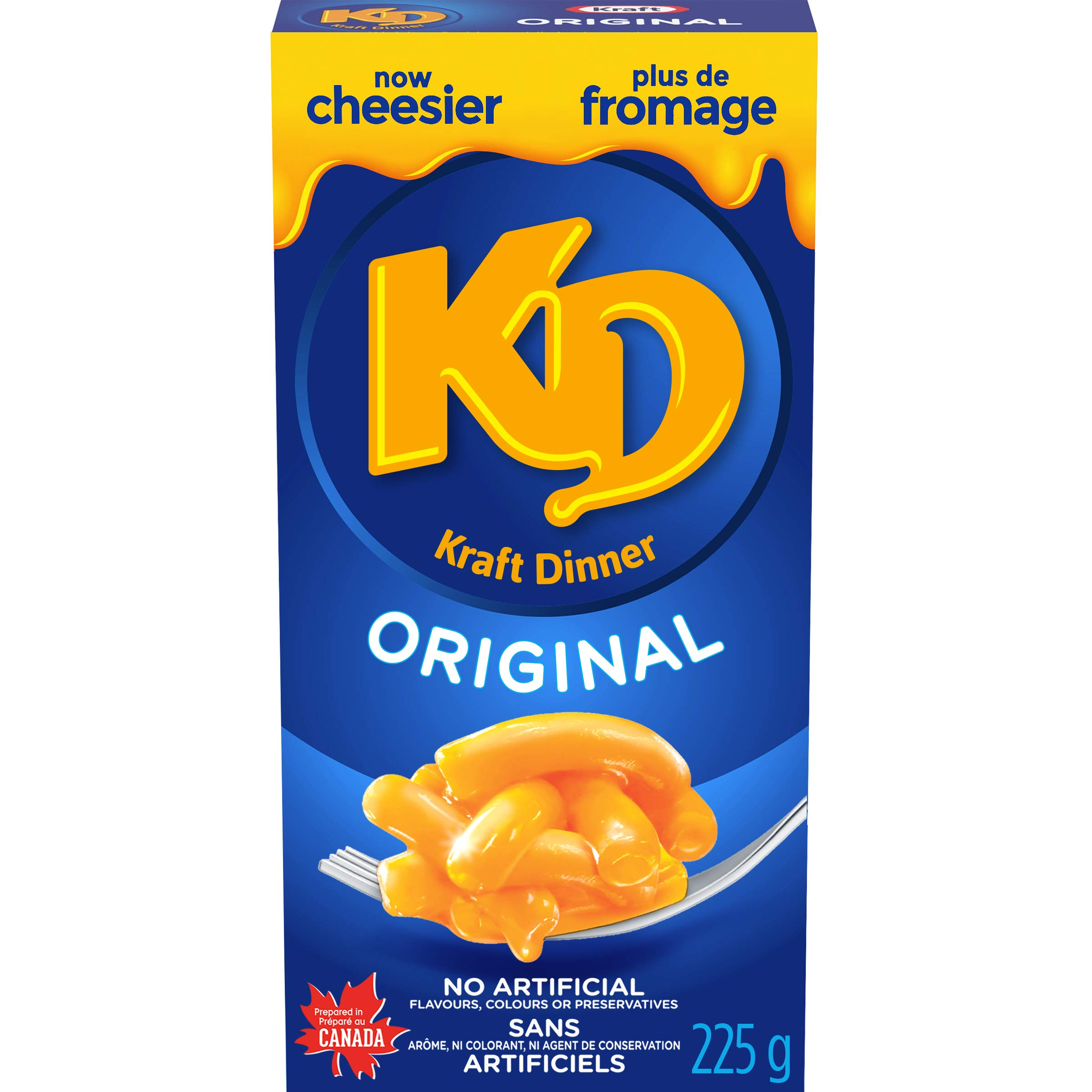 KD Kraft Dinner Original Macaroni and Cheese, 225g {Imported from Canada}