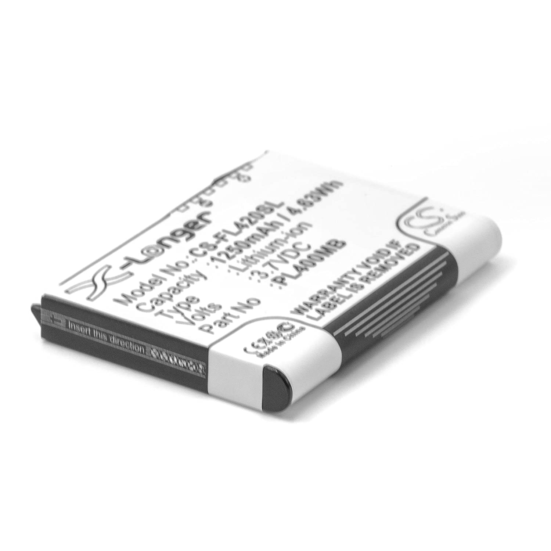 PL400MD vhbw Li-Ion Akku 1250mAh 3.7V S26391-K165-V562 PL500MB PL400MB f/ür PDA Mobilcomputer wie 10600405394 S26391-F2607-L50