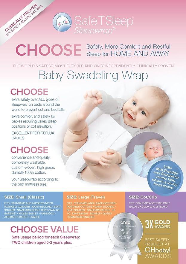 Safe T Sleep Ropa de Cama de Seguridad para Bebés Arrullo Clásico: Amazon.es: Bebé