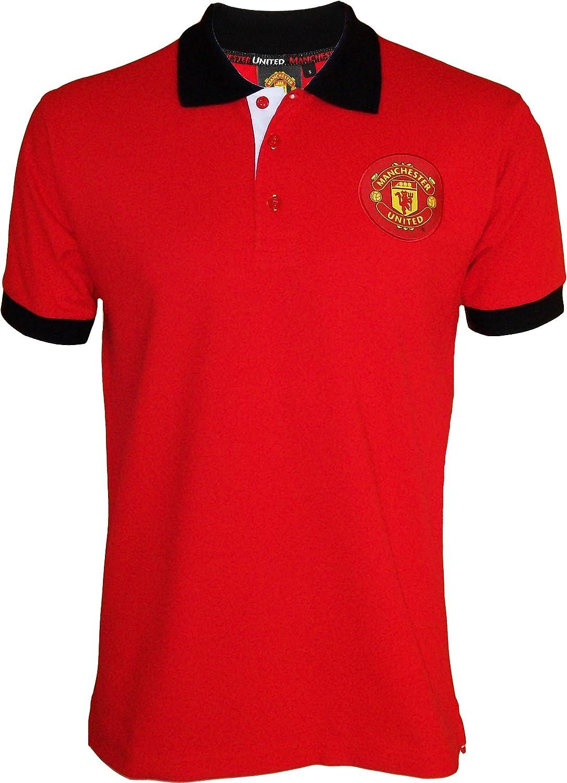 Manchester United Polo, colección Oficial, Talla DE Adulto, Hombre ...