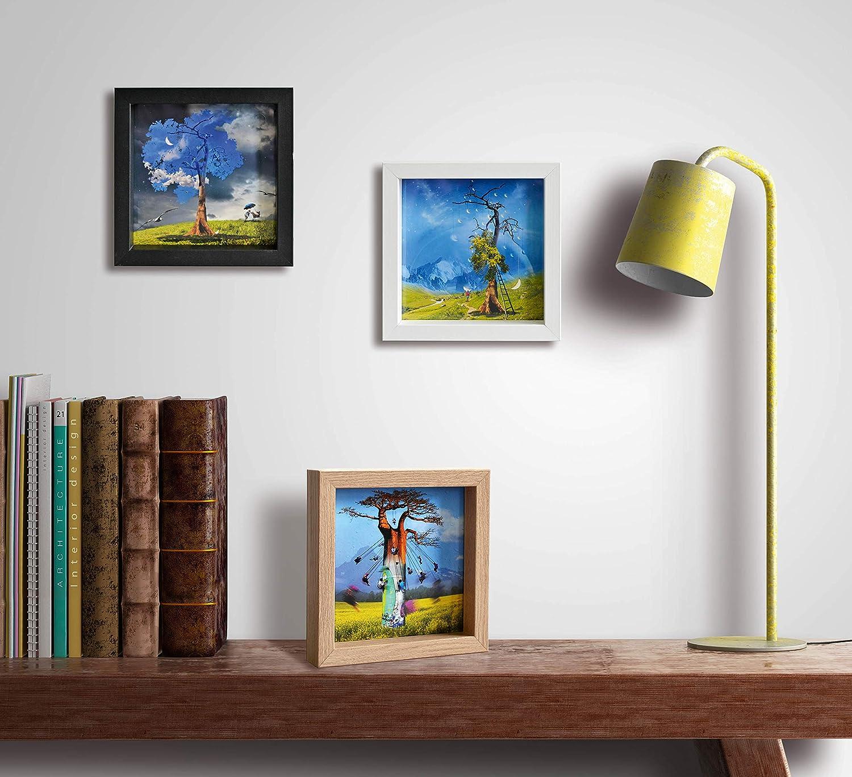International Graphics Carte postale encadr/ée Motif Bull Pop 16 x 16 cm