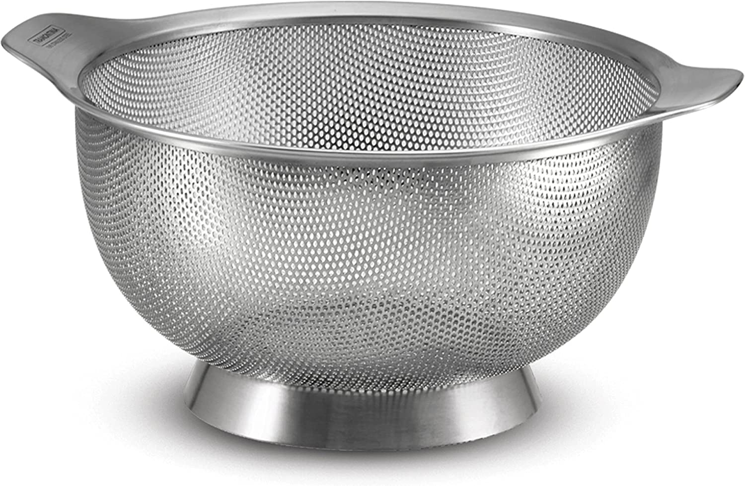 Tramontina 80201/005DS Gourmet Stainless Steel Colander, Micro-Perforated, Dishwasher Safe, 4.5-Quart