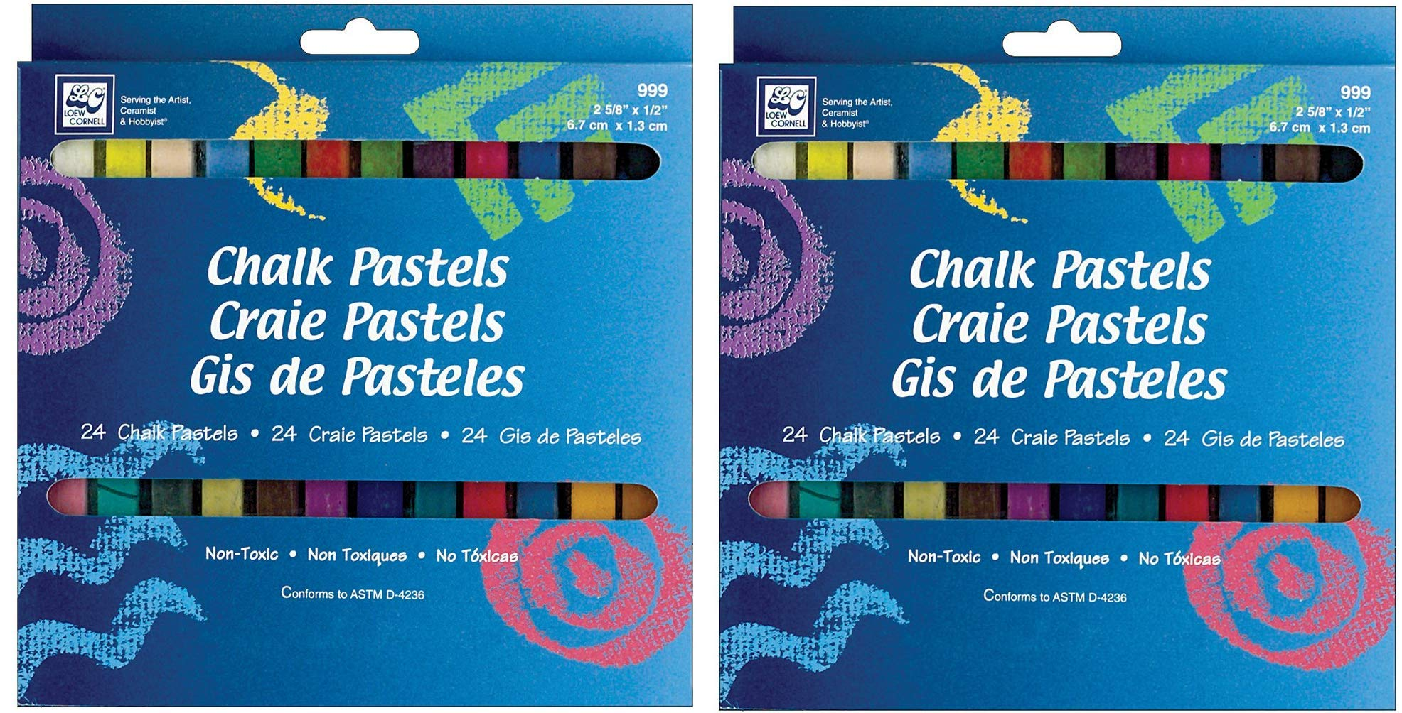 Loew-Cornell Chalk Pastels, 24-Count (Тwo Рack) by Loew-Cornell
