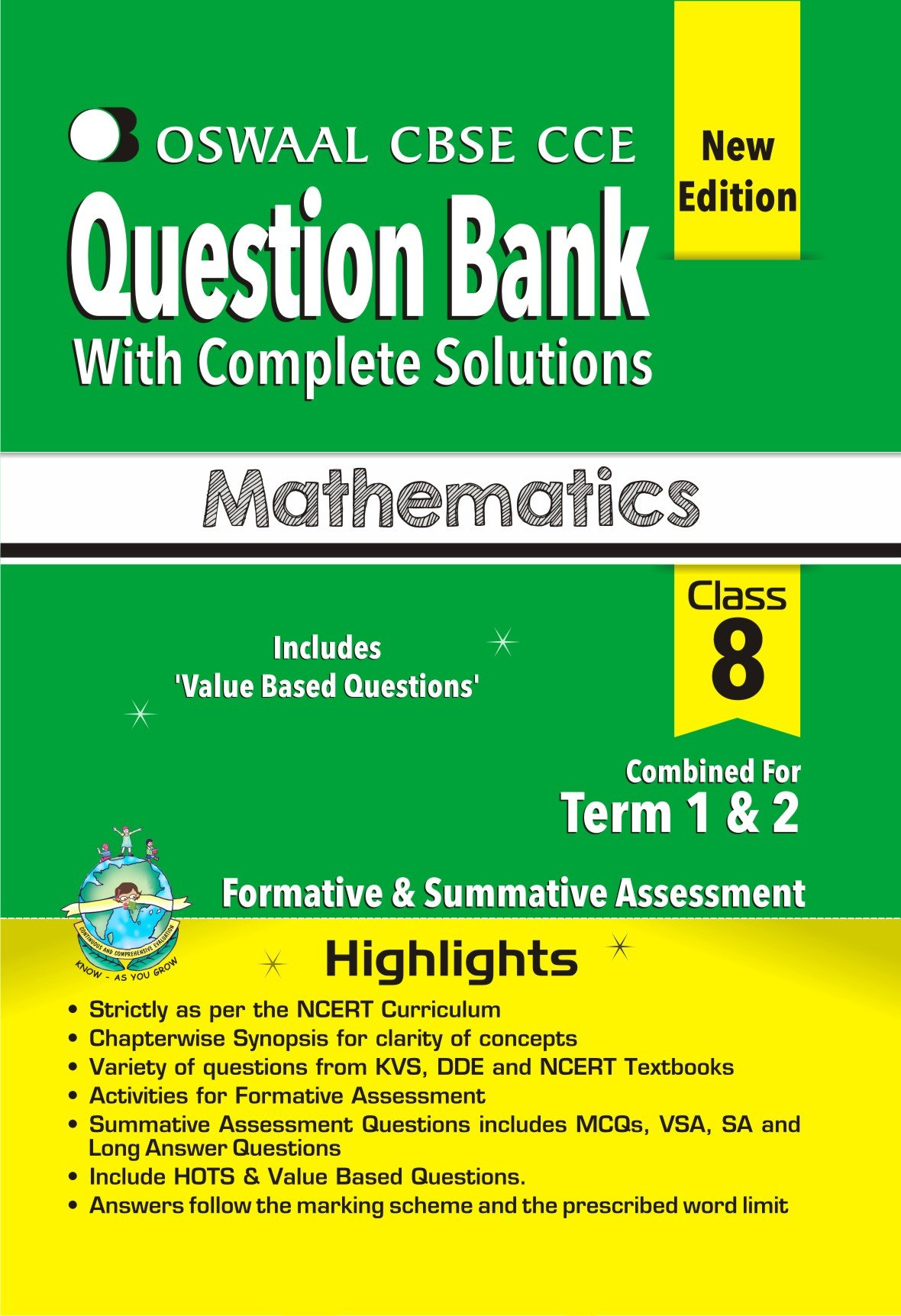 Oswaal CBSE CCE Question Banks Mathematics for Class 8 Old Edition ...