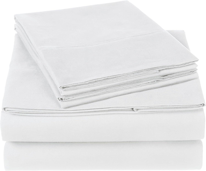 Pinzon 300 Thread Count Organic Cotton Bed Sheet Set - California King, White