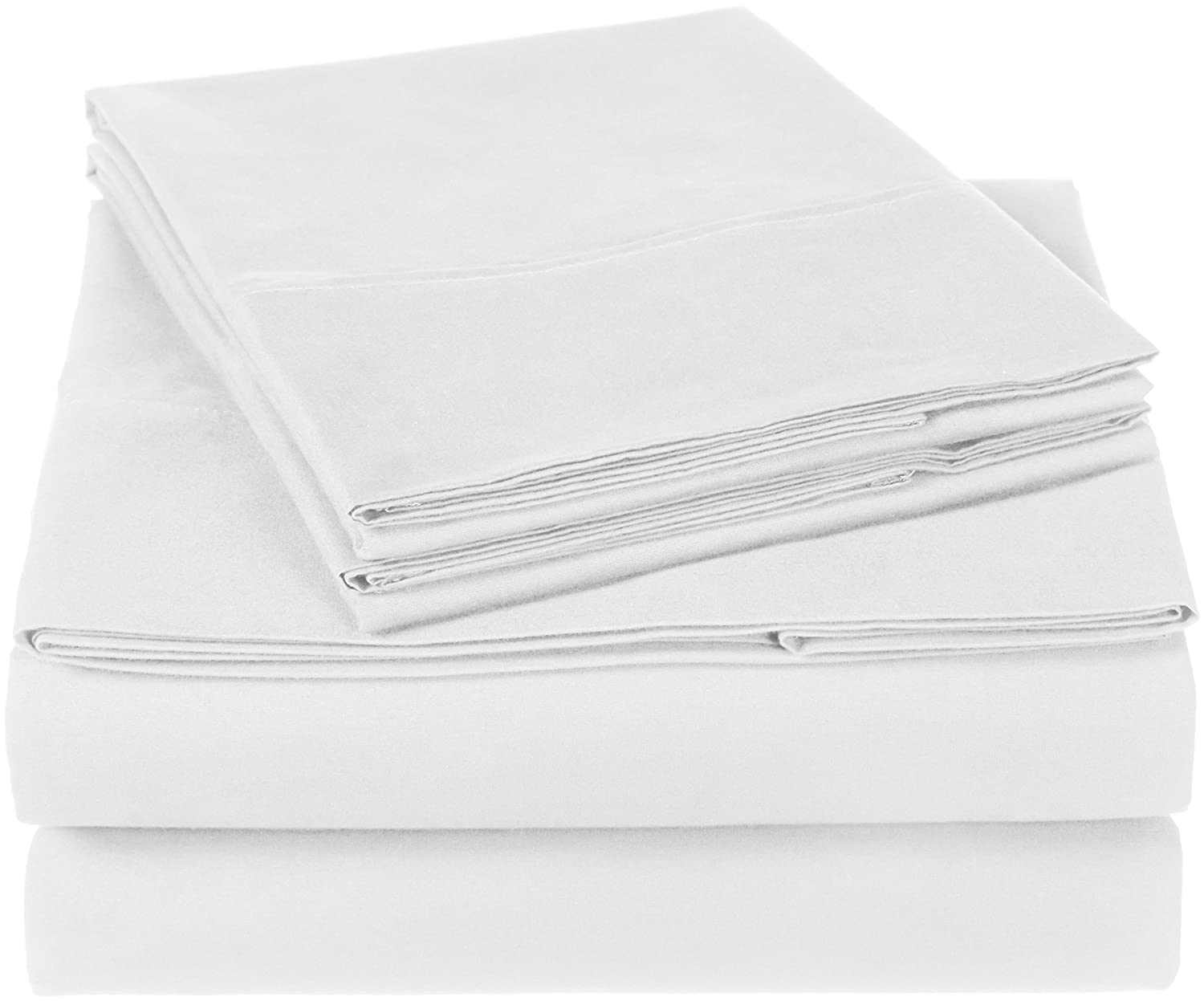 Pinzon 300 Thread Count Organic Cotton Bed Sheet Set, Queen, White bed sheets Bed Sheets Review: Best bed sheets on the market today 81bAdY5hfXL
