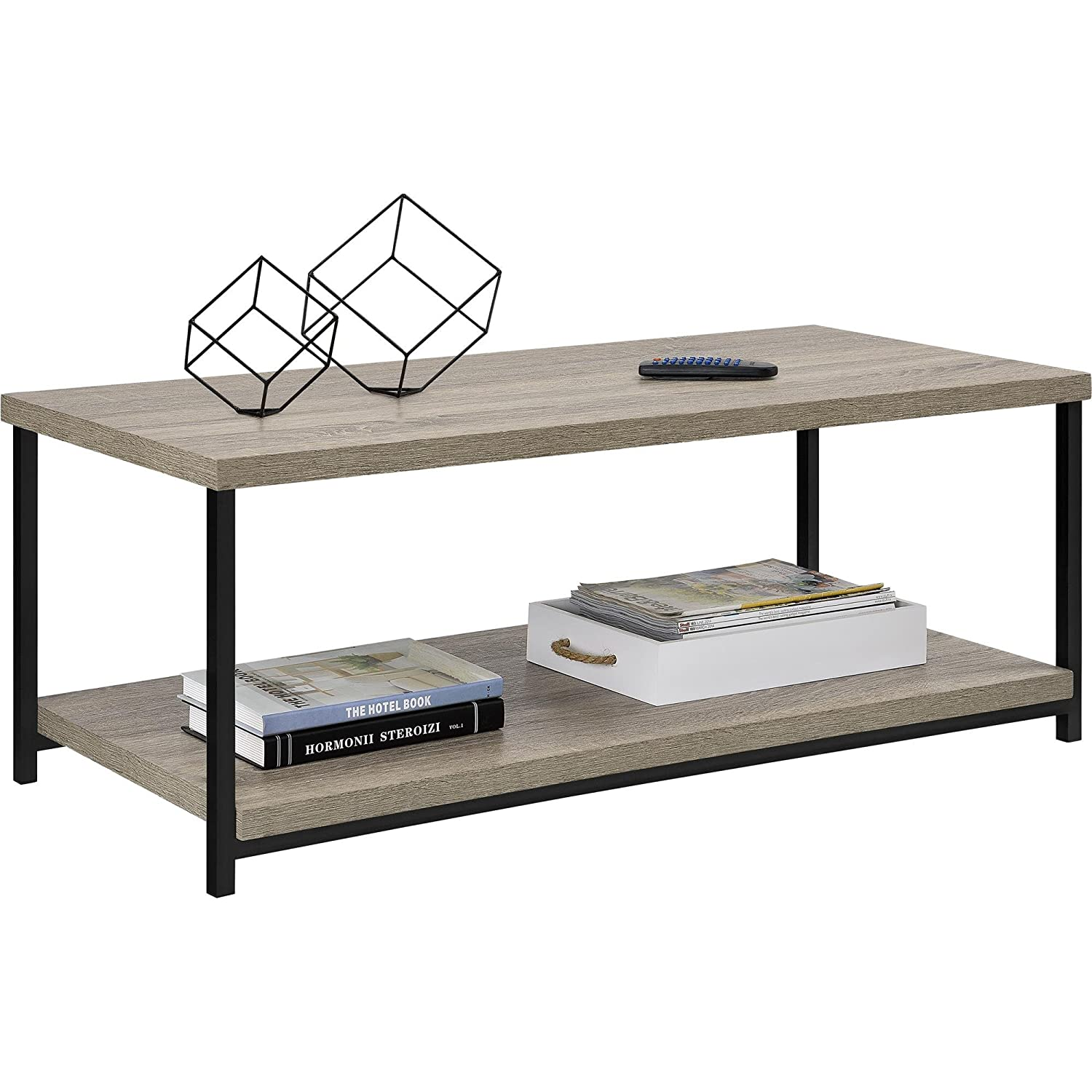 Amazon ameriwood home elmwood coffee table weathered oak amazon ameriwood home elmwood coffee table weathered oak kitchen dining geotapseo Choice Image