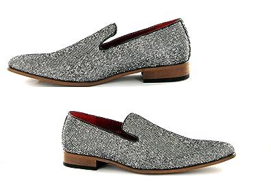 e2dba785b Rosellini Mens Italian Designer Slip on Smart Pointed Toe Shoes ...