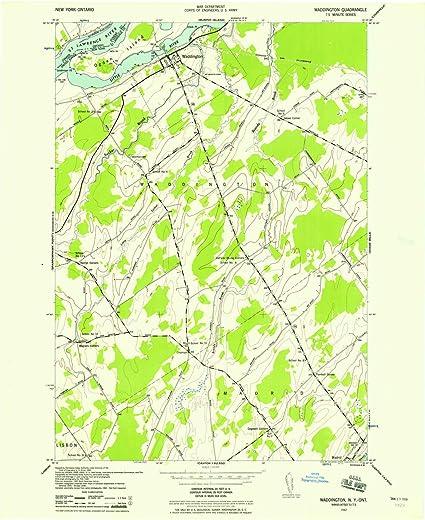 Nys Elevation Map.Amazon Com Yellowmaps Waddington Ny Topo Map 1 24000 Scale 7 5 X