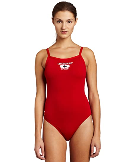 750e535050a Amazon.com  Speedo Womens Endurance+ Lifeguard Flyback Swimsuit ...